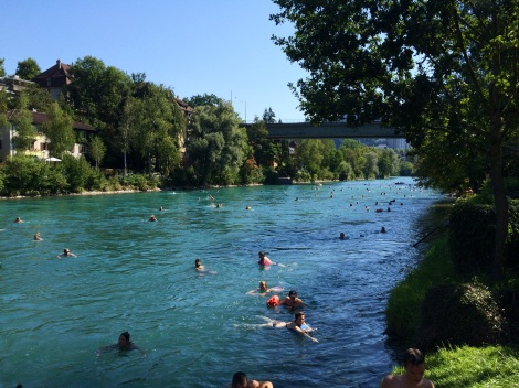 Aare we having fun floating down the river? YES!