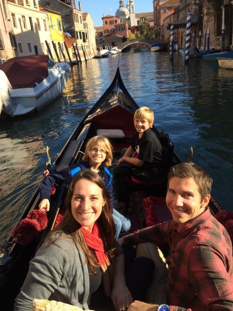 Gondola cruising