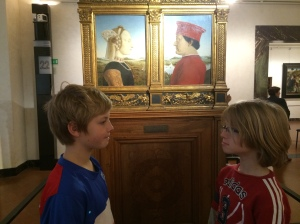 Our kids love posing like the art; another way to engage them in a museum.