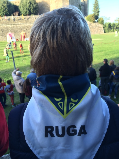 Fritz supporting the Ruga quarter in the archery competition
