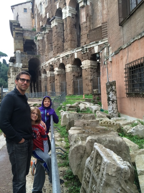 Ruins in the Jewish ghetto in Rome