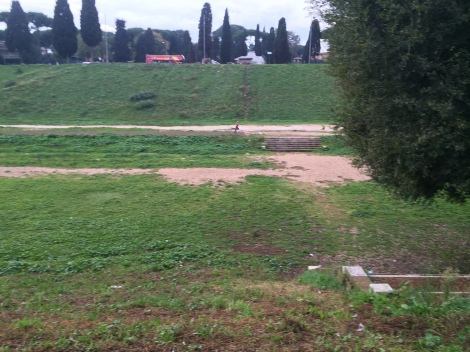 Ernst racing his invisible chariot at Circus Maximus
