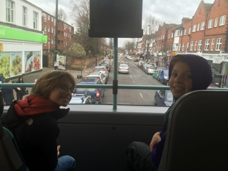 Upper deck, obviously! Double decker bus