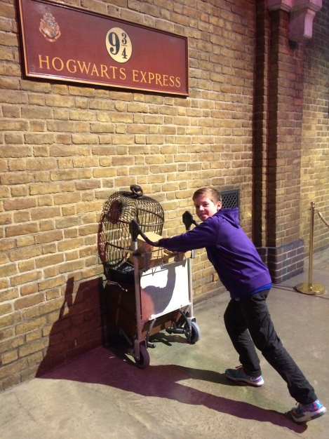 Catching the train to Hogwarts from Platform 9 3/4