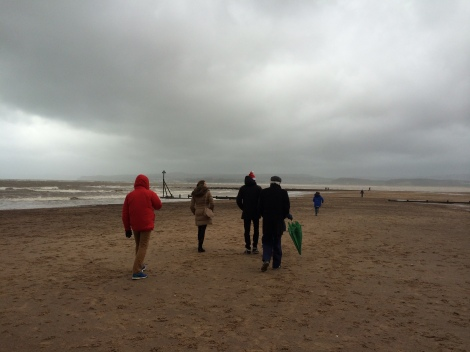 Exmouth beach walk on Christmas Day