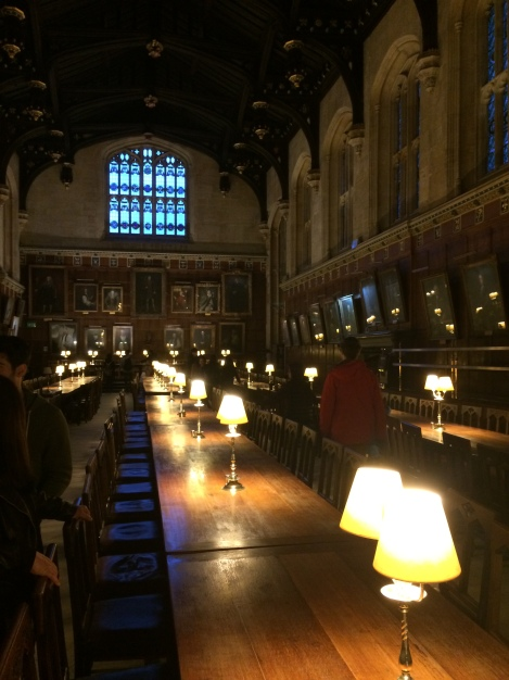 The real Great Hall at Christ Church, Oxford (still used for dining)