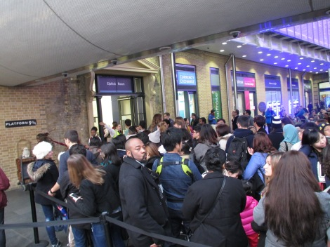 Platform 9 3/4 at King's Cross (note all adults in line). NOT worth it.