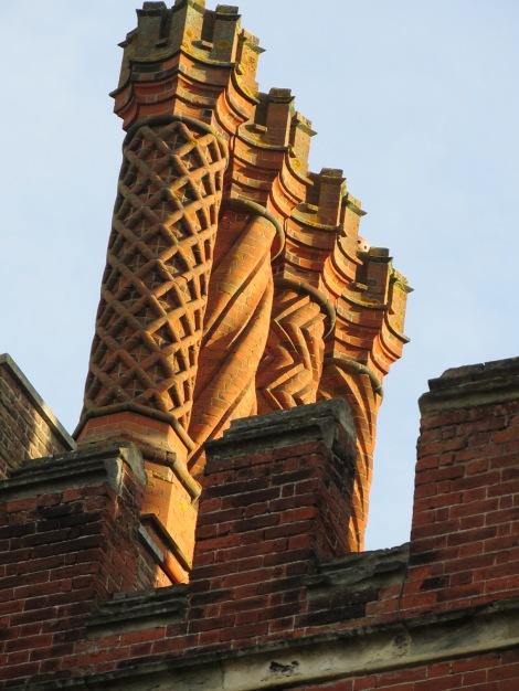 Beautiful chimneys at Hampton Court