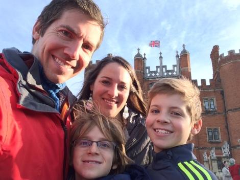 Hampton Court, sunny skies