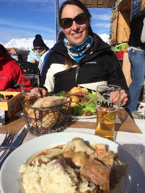 Perfect ski lunch at La Cordée in the La Plagne section of Paradiski