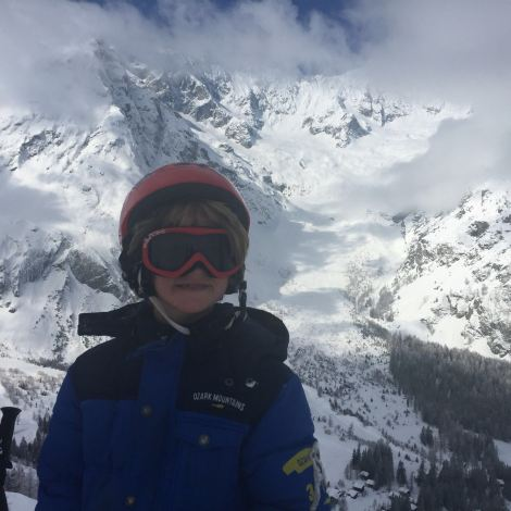 Ernst having a blast at ski camp (his chaperone kindly WhatsApp'd me several photos during the week)