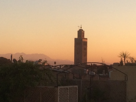 Koutoubia Mosque from our riad's roof