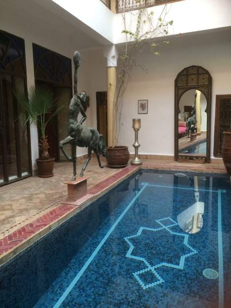 Lovely courtyard in the riad with its plunge pool