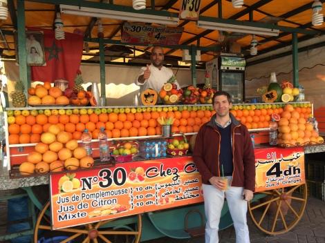 Best deal in Marrakech: delicious 40 cent orange juice