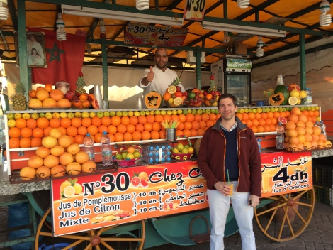 Best deal in Marrakech: delicious 40 cent orange juice