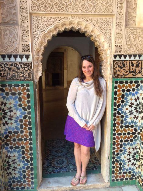Me at the Ben Youssef Medersa (the old Koranic school)