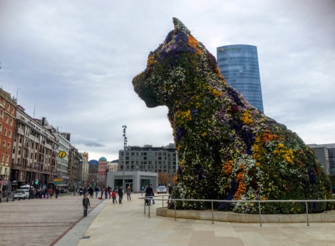 Puppy!!! I love this guy (by Jeff Koons) outside the Guggenheim Bilbao.