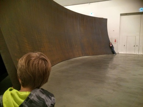 Interactive art is the BEST for engaging kids. Thanks, Richard Serra!