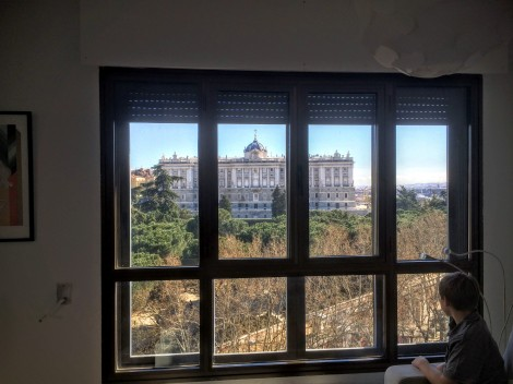 Loved the view of the palace from our AirBnB in Madrid.