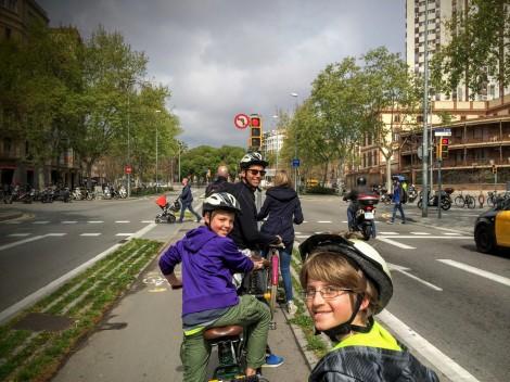 Biking in Barcelona