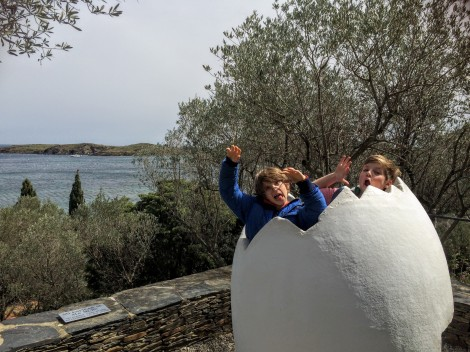 Yikes! Look what's hatching! (at Dalí's house just outside Cadaqués)
