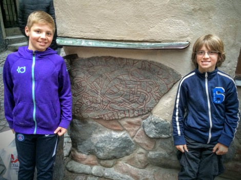 Rune stone right in Gamla Stan, about 1000 years old.