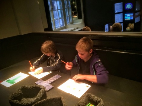 "Boys in the ""Bubble Chamber"" at the Nobel Museum"