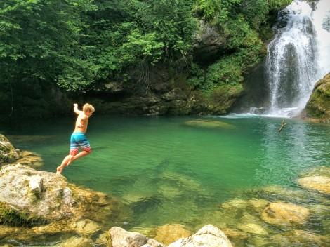 Vintgar Gorge hike - cold water!